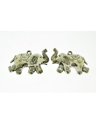 1 Pz. Ciondolo Elefante con riccioli