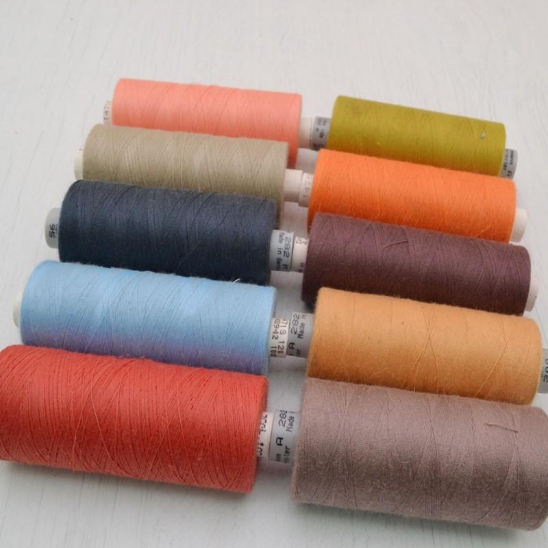 FILO PER CUCIRE n 120 1000 mt GUTERMANN Sottile resistente per tessuti confezione x 10 colori