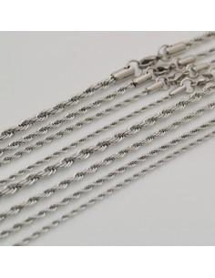 Base per collana catena attorcigliata acciaio inox per Ciondolo e pendente lungo 60CM