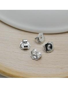 farfalla in argento 925 per orecchini perni è scura qualità 4 x 7 mm confezione 4 pz