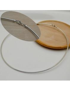 base collana in argento 925 semi rigido filo 2 mm lunghezza 42 cm per le tue gioielli