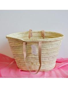 borse paglia da decorare palma 48xH30x29 cm con manici corti 28h in pelle borsa donna mare estate