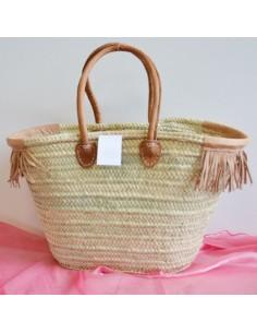 borse paglia da decorare palma 55xH35x35con frange emanici corti 22h cm in pelle borsa donna mare estate