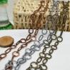 catena con fantasia anticato Alternata anelli 17 mm ovale 8 x 17 mm 1mt per fai da te