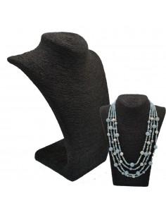 Collo per collana Espositore porta collana busto paglia colore nero vetrina Gioielli Bigiotteria