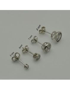 orecchini punto luce argento 925 tondi orecchini donna ZIRCONE BIANCO