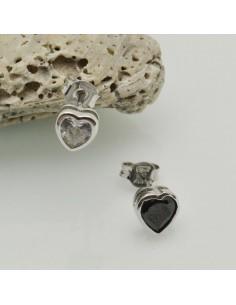 orecchini cuore punto luce argento 925 orecchini donna ZIRCONE 7 mm