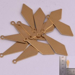 6 pz ciondoli forma forma di Diamante da incidere in ottone con foro 20 x 8 mm per le tue creazioni