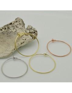orecchini a cerchio sottili 35 mm CON FILO 0.8 MM IN ARGENTO 925 per le tue gioielli