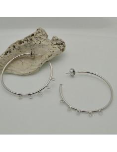 ORECCHINI CERCHIO 4 ANELLI PER CIONDOLI 45 MM IN argento 925 per le tue creazioni
