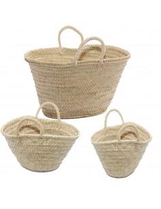 borse paglia piccoli da decorare palma con MANICI SISAL borsa la ragazzina mare estate