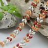 catena spina di pesce smaltato 6,5 mm in ottone colorato per le tue creazioni