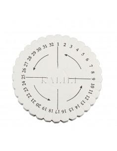 KUMIHIMO DISCO TONDO per bracciale bracciale 10 cm spessore 10 mm GIOIELLI ARTIGIANALI TESSITURA