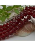 FILO cristallo cinese mezzi cristalli cipollotti 6 x 8 MM colore Bordeaux 65 - 70 pz per le tue creazioni