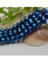 FILO cristallo cinese mezzi cristalli cipollotti 6 x 8 MM colore blu metallic 65 - 70 pz per le tue creazioni