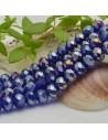 FILO cristallo cinese mezzi cristalli cipollotti 6 x 8 MM colore blu AB 65 - 70 pz per le tue creazioni