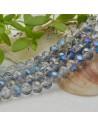 FILO cristallo cinese mezzi cristalli cipollotti 6 x 8 MM colore Zaffiro chiaro 65 - 70 pz per le tue creazioni