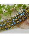 FILO cristallo cinese mezzi cristalli cipollotti 6 x 8 MM colore oliva AB 65 - 70 pz per le tue creazioni