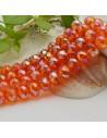FILO cristallo cinese mezzi cristalli cipollotti 6 x 8 MM colore arancione AB 65 - 70 pz per le tue creazioni