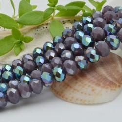 FILO cristallo cinese mezzi cristalli cipollotti 6 x 8 MM colore viola /metallic 65 - 70 pz