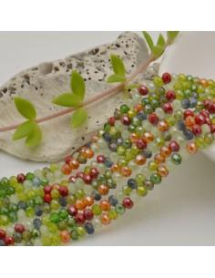 filo cristalli 2.8 x 3.5 mm colore MIX Rondelle sfaccettato e briolette 170 pz per le tue creazioni
