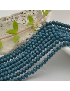 filo cristalli 2.8 x 3.5 mm colore petrolio Rondelle sfaccettato e briolette 170 pz per le tue creazioni