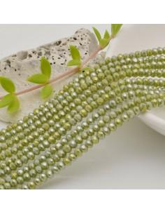 filo cristalli 2.8 x 3.5 mm colore Ovaline Rondelle sfaccettato e briolette 170 pz per le tue creazioni