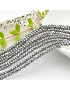 filo cristalli 2 x 3 mm colore grigio Rondelle sfaccettato e briolette 200 pz per le tue creazioni