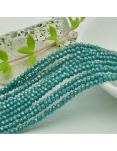 filo cristalli 2 x 3 mm colore tiffany scuro Rondelle sfaccettato e briolette 200 pz per le tue creazioni