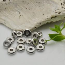 Rondelle in Acciaio Distanziatori  con foro 2 mm 15 pz idea per bracciale per fai da te   per le tue creazioni