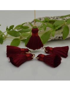 nappine ciondolo nappa Charms in seta col bordò 22 mm per decorare 2 pz per fa da te