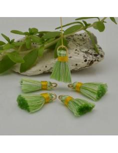 nappine ciondolo nappa Charms in seta col verde mix 22 mm per decorare 2 pz per fa da te