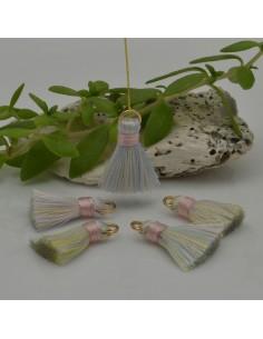 nappine ciondolo nappa Charms in seta col rosa mix 22 mm per decorare 2 pz per fa da te