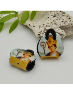 ciondoli forma borsetta in resina con disegno vescovo 13 x 18 mm per le tue creazioni