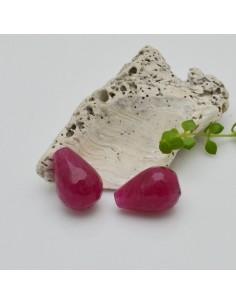 1 pz Goccia 13 x 19 mm pietra di agata col rubino Sfaccettata per tue creazioni