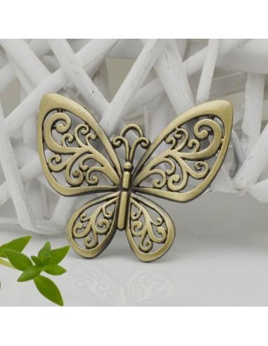 Bellissima pendente Farfalla 5x6cm colore bronzo in ottone