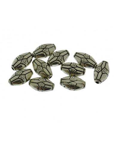10 Pz. Perle Inframezzi Rombi decorati