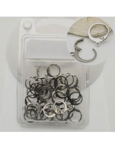 maxi confezione monachelle in acciaio Base monachella chiusa a molla tonda 12 x 14.5 mm 36 pz