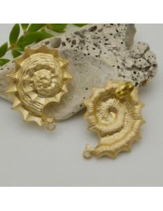 base Orecchini a perni forma lumache oro 24 x 34 mm in zama per i tuoi orecchini alla moda