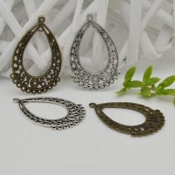 handelier Base per orecchini forma gocce con 11 anelli per ciondoli 28 x 43 mm per le tue creazioni