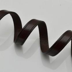 Cordino Piatto IN CUOIO 10 MM SPESSORE 1.7 MM COL marrone creare bracciali da uomo o donna