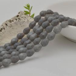 goccia cristalli cinese briolette sfaccettata 6 x 7.5 MM col grigio filo 72 pz per orecchini collana