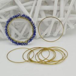 cerchio vuoto chiuso forma rotonda 40 mm in ottone naturale spessore 0.8 mm 6 pz per orecchini collana