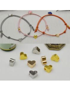 2 pz distanziatore forma a cuore piatta lucido 6 x 7 mm spessore 3.5 mm fai da te