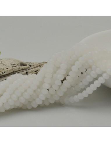 Filo cristallo Rondelle Cipollotti 3x4 mm col bianco ghiaccio briolette 125 a 140pz per le tue creazioni