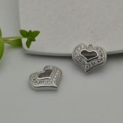 Charm cuore Strass zircone 10 mm 1pz per le tue creazioni
