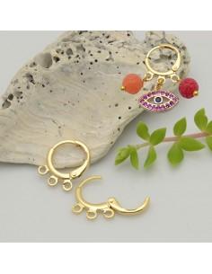 base orecchini cerchio con 3 anellini 12 mm oro cerchio tonde chiuse per ciondoli per le tue creazioni