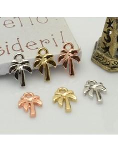 ciondolo forma palma piccoli 8 x 12 mm in ottone 2 pz per idea creare gioielli fai da te