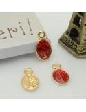 ciondoli madonnina piccoli e smaltato 6 x 11 mm in ottone 2 pz per idea creare gioielli fai da te