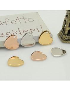 ciondolo medaglia forma di moneta 12 X 15 mm in ottone 2 pz per gioielli fai da te